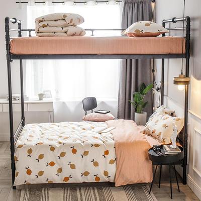 2019新款全棉单人床三件套 适用床-0.9-1.2m 洋柠檬