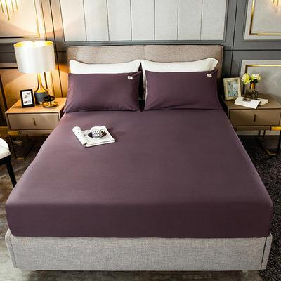 2020新款全棉纯色贴布绣床笠 120cmx200cm 床笠-绛紫