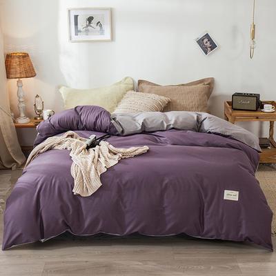 2019新款全棉13070被套單品 120x200cm 133絳紫+淺灰