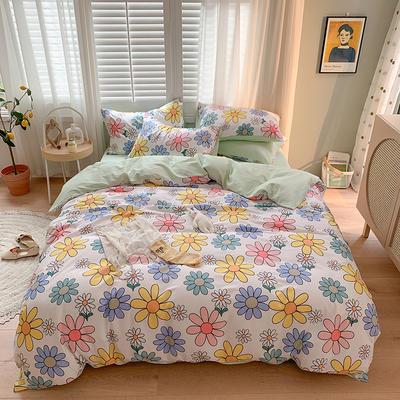 2020新款13070純棉印花四件套第二批 1.2m床單款三件套 波西小花