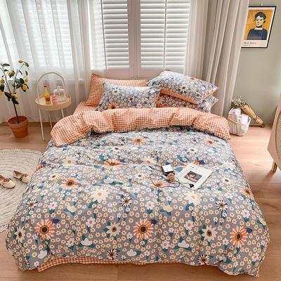 2020新款13070純棉印花四件套第二批 1.2m床單款三件套 花趣