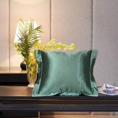 2020新款精品水洗真丝四件套—单品抱枕套 抱枕45x45cm/对 琥珀绿