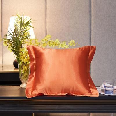 2020新款精品水洗真丝四件套—单品抱枕套 抱枕45x45cm/对 橘色