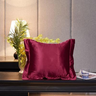 2020新款精品水洗真丝四件套—单品抱枕套 抱枕45x45cm/对 玛瑙红