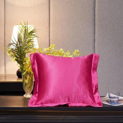 2020新款精品水洗真丝四件套—单品抱枕套 抱枕45x45cm/对 玫瑰红