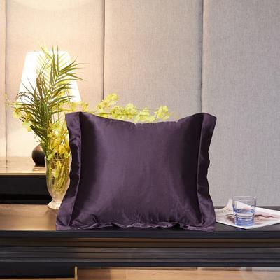 2020新款精品水洗真丝四件套—单品抱枕套 抱枕45x45cm/对 水晶紫
