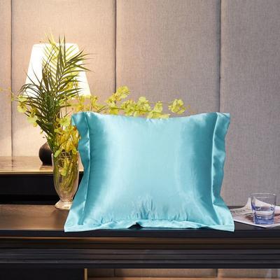 2020新款精品水洗真丝四件套—单品抱枕套 抱枕45x45cm/对 天之蓝