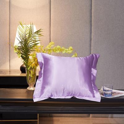2020新款精品水洗真丝四件套—单品抱枕套 抱枕45x45cm/对 香芋紫