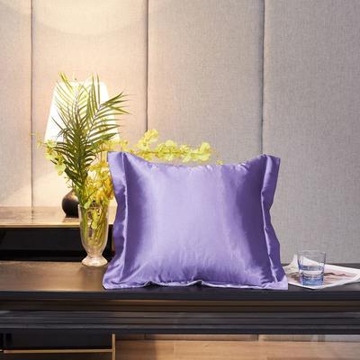 2020新款精品水洗真丝四件套—单品抱枕套 抱枕45x45cm/对 雪青