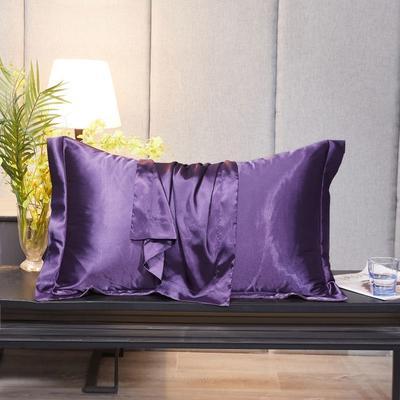 2020新款精品水洗真丝四件套—单品普通枕套 枕套48x74cm/对 典雅紫