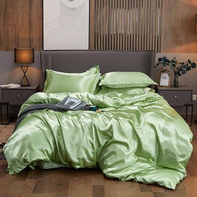 2020新款水洗真絲四件套 1.2m床單款三件套 琥珀綠