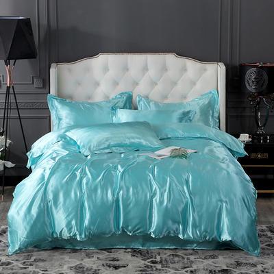 2019年新款水洗冰丝四件套 1.2m床单款三件套 水蓝