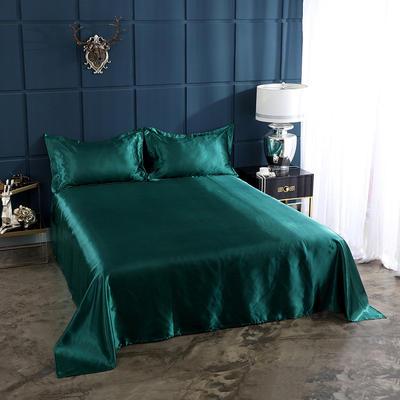 2019年新款水洗冰丝四件套系列—单品床单 170cmx230cm 翡翠绿