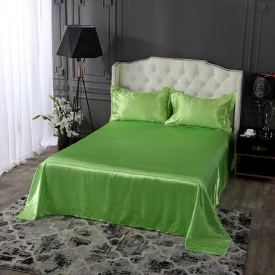 2019年新款水洗冰丝四件套系列—单品床单 170cmx230cm 果绿
