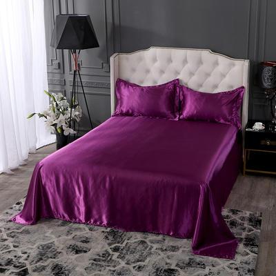 2019年新款水洗冰丝四件套系列—单品床单 170cmx230cm 紫色
