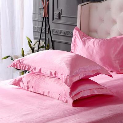 2019新款水洗冰丝四件套系列—单品枕套 48cmX74cm/对 粉色
