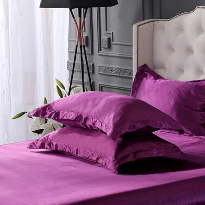 2019新款水洗冰丝四件套系列—单品枕套 48cmX74cm/对 紫色