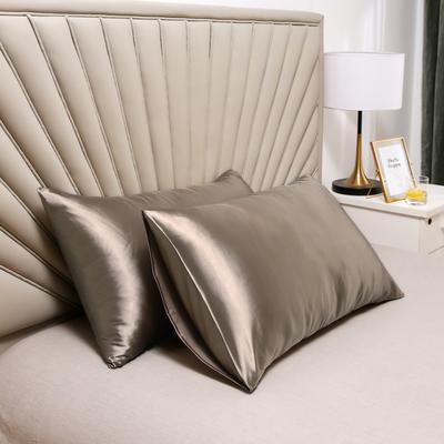 2020新款水洗真丝四件套系列—单品口袋枕套 51cmx76cm/对 香槟金