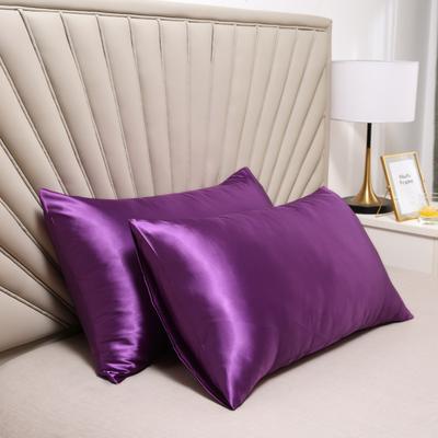 2020新款水洗真丝四件套系列—单品口袋枕套 51cmx76cm/对 紫罗兰