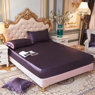 2020新款水洗真丝四件套系列—单品床笠 120cmx200cm 水晶紫