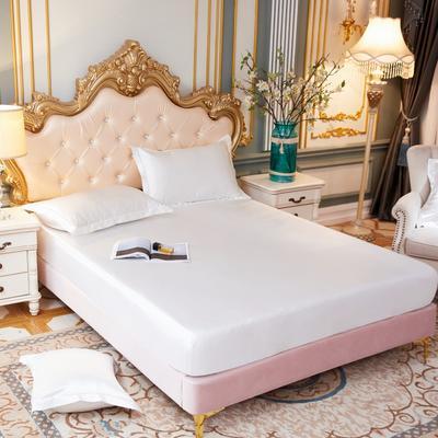 2020新款水洗真丝四件套系列—单品床笠 120cmx200cm 珍珠白