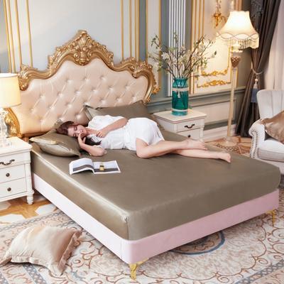 2020新款水洗真丝四件套系列—单品床笠 120cmx200cm 香槟金