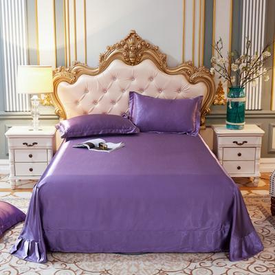 2020新款水洗真丝四件套系列—单品床单 230*250cm床单(直角) 典雅紫