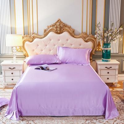 2020新款水洗真丝四件套系列—单品床单 230*250cm床单(直角) 香芋紫