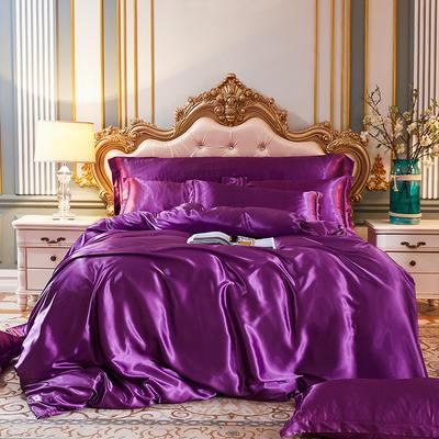 2020新款水洗真丝四件套 1.5m床单款四件套 紫罗兰