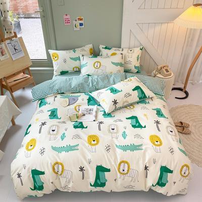 2020年新款全棉纯棉卡通小清新13070四件套实拍图 1.2m床床单三件套 森林之家
