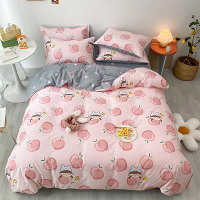 2020新款13070第二批花样年华全棉卡通三四件套小清新纯棉男孩女孩床上用品 1.2米床 床单款三件套 蜜桃宝贝