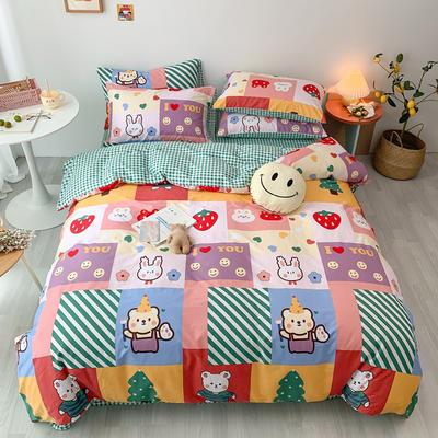 2020新款13070第二批花样年华全棉卡通三四件套小清新纯棉男孩女孩床上用品 1.2米床 床单款三件套 好伙伴
