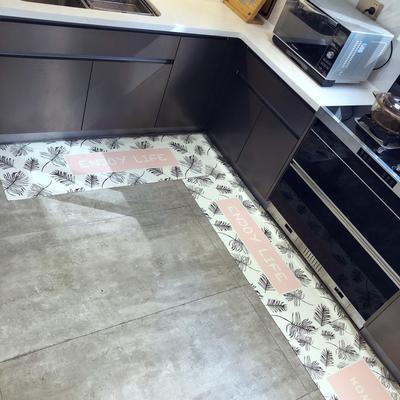 pvc皮革防滑防油厨房地垫免洗 家用门垫进门垫多用途垫子 45*75cm pink粉