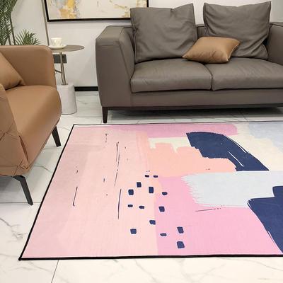 2019新款都市系列雪尼尔无毛地毯 1400MMx2100MM 涂鸦