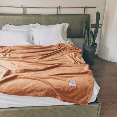 ?#22902;?#21320;睡薄毛毯被子盖毯纯色空调毯单人午休毯子办公室北欧沙发毯 120*200cm 宫廷棕