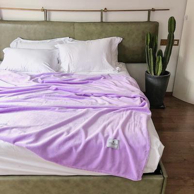 2019新款四季款纯色随意毯 120*200cm 紫色