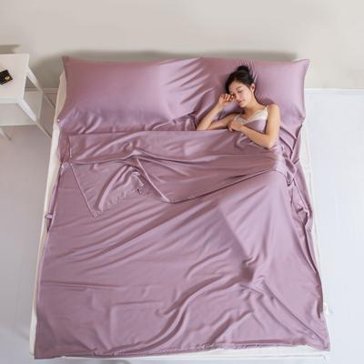 2019新款60支天丝隔脏睡袋 艾拉紫120*210cm