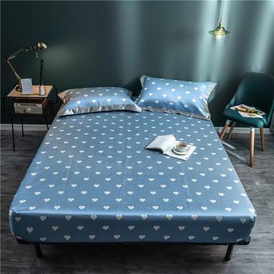 床笠款冰丝凉席1.8m床可水洗折叠夏天季1.5米空调软席子三件套2.0 120*200 比心