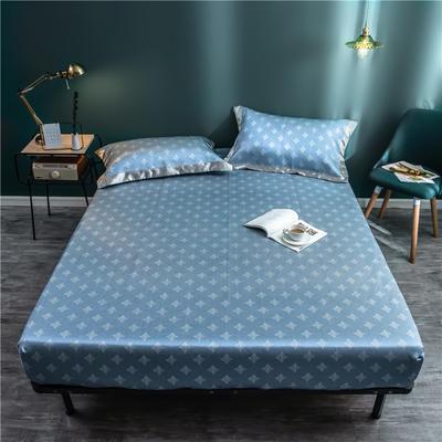 床笠款冰丝凉席1.8m床可水洗折叠夏天季1.5米空调软席子三件套2.0 120*200 方特-蓝