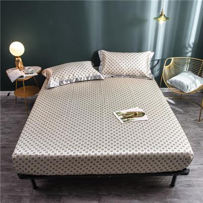 床笠款冰丝凉席1.8m床可水洗折叠夏天季1.5米空调软席子三件套2.0 120*200 克丽丝金
