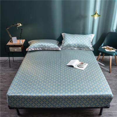 床笠款冰丝凉席1.8m床可水洗折叠夏天季1.5米空调软席子三件套2.0 120*200 绿格