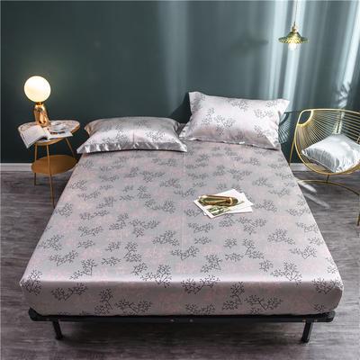 床笠款冰丝凉席1.8m床可水洗折叠夏天季1.5米空调软席子三件套2.0 120*200 秋叶