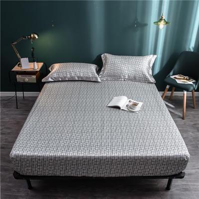 床笠款冰丝凉席1.8m床可水洗折叠夏天季1.5米空调软席子三件套2.0 120*200 线条主义