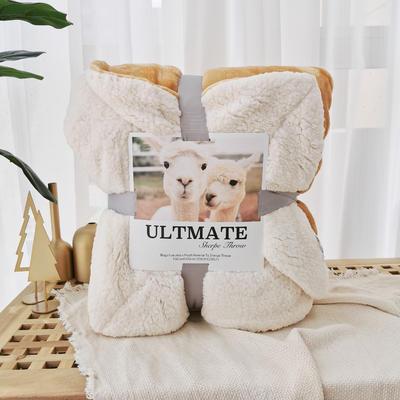 马卡龙双层羊羔绒毛毯加厚单双人盖毯珊瑚绒毯子 150*200cm 卢克索米