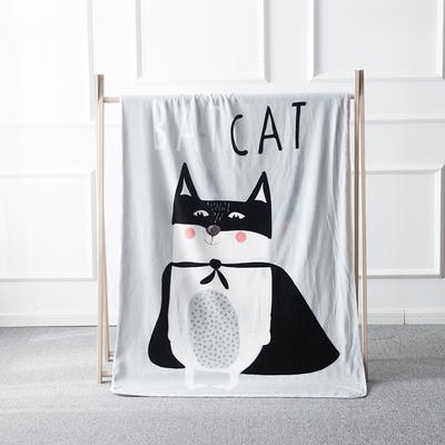 2019北歐加厚兒童雙層絨毯 100*140cm (送精致高檔禮盒) bat貓