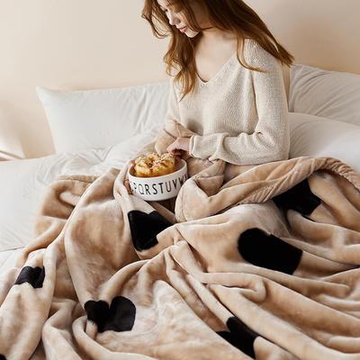 珊瑚绒毛毯被子秋冬双层加厚保暖法兰绒毛毯冬季拉舍尔毯子午睡毯 150*200cm 温心