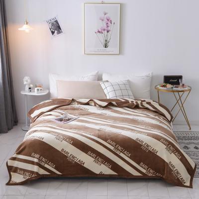 双层加厚高品质复合云毯北欧毛毯法兰绒珊瑚绒毯子秋冬休闲毯 150*200cm 字母