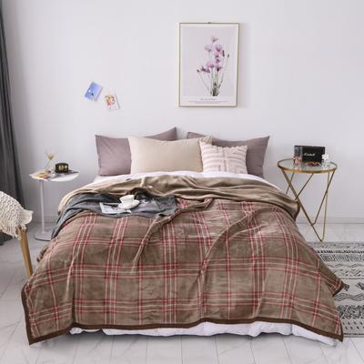 双层加厚高品质复合云毯北欧毛毯法兰绒珊瑚绒毯子秋冬休闲毯 150*200cm 布拉格-咖