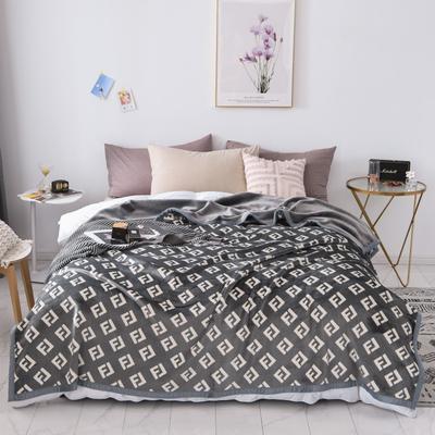 双层加厚高品质复合云毯北欧毛毯法兰绒珊瑚绒毯子秋冬休闲毯 200cmx230cm 风迪