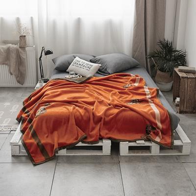 双层加厚高品质复合云毯北欧毛毯法兰绒珊瑚绒毯子秋冬休闲毯 200cmx230cm 复古情怀